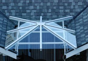 GLASS CANOPIES AND DECK OR PATIO COVERS
