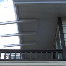 Glass Canopy over porch